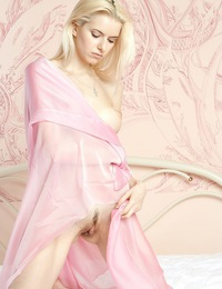 Mesmerizing vision of stunning blonde with long, slender physique and pink, luscious assets. - Maya C - Status