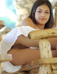 Play a naughty game of peek-a-boo with Sofi. - Sofi A - Dedicar